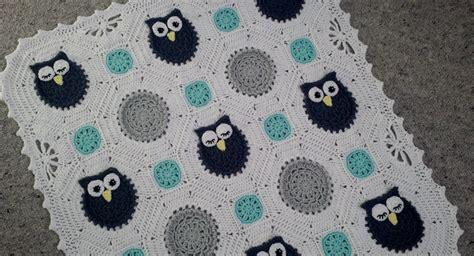 crochet pattern owl baby blanket crochet owls baby blanket hayleys little things madeit