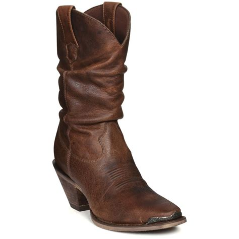womens slouch boots s 10 quot durango 174 sultry slouch boots 219849 cowboy