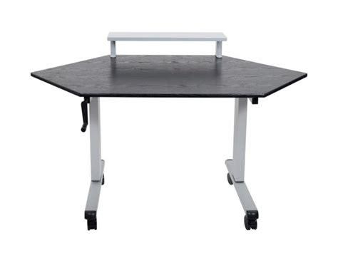 corner standing desk luxor crank corner standing desk 60 quot computer tables