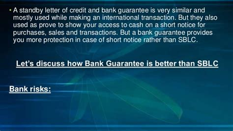 Standby Letter Of Credit Or Bank Guarantee how bank guarantee is better than standby letter of credit