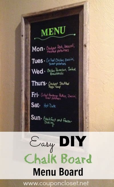 diy chalkboard menu how to make a chalk board menu board