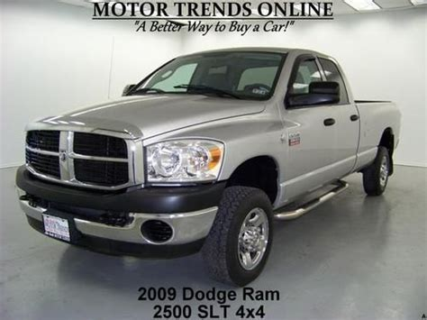 buy used quad cab 4x4 slt diesel long bed tow pkg 2009 dodge ram 2500 47k houston in alvin