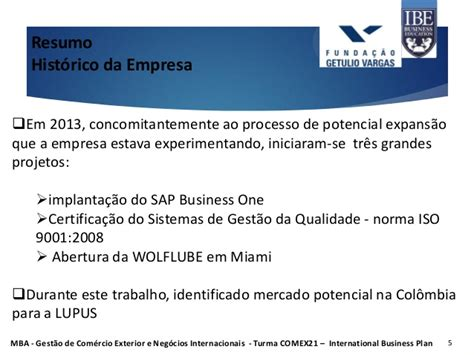 Mba Presentation Template by Mba Fgv Apresenta 231 227 O International Business Plan Fase