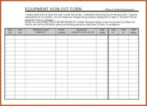 equipment sign out sheet   sop example