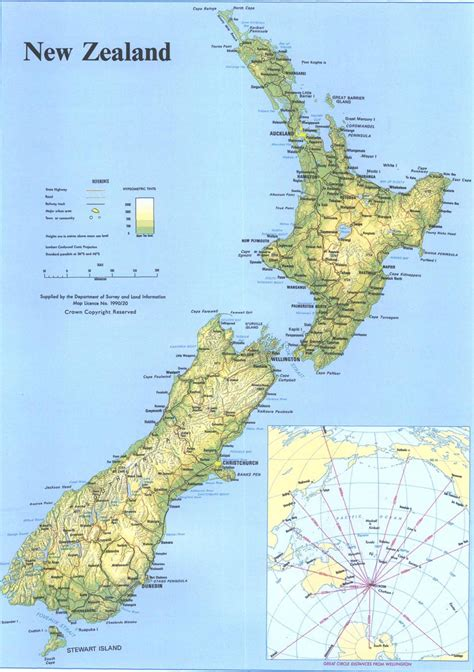 new zealand physical map new zealand official yearbook 2004