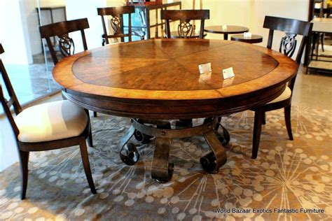 Expanding Dining Room Table by Expandable Table Round Home Design
