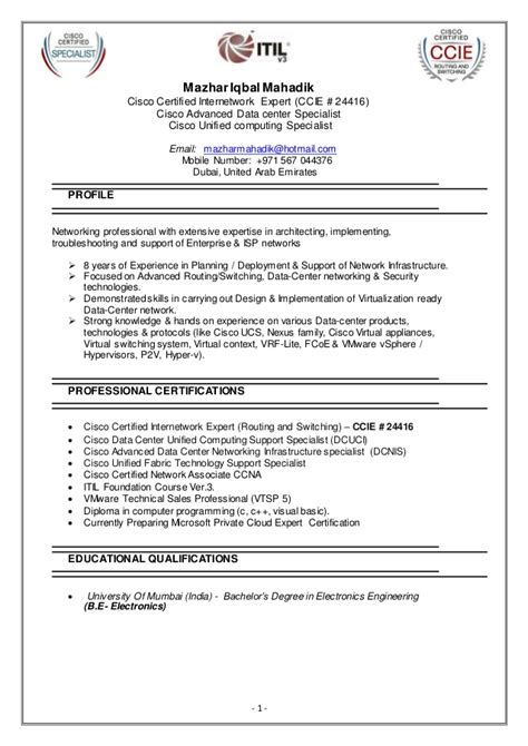 Cisco Network Administrator Sle Resume by Cisco Resume 28 Images Cisco Test Engineer Sle Resume Glass Worker Cover Letter Rh Resume