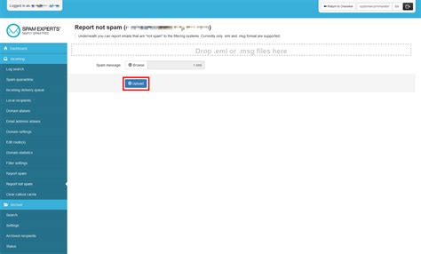 How To Report Spam Email To by How To Report An Email As Not Spam In Spamexperts Web Hosting Hub