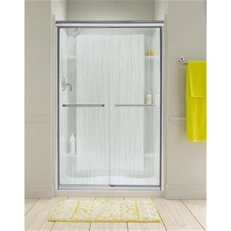 Sterling Finesse 47 625 In X 70 063 In Semi Framed Sterling Glass Shower Doors