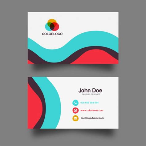 business card design template vector free 25 free business cards psd vector eps png format