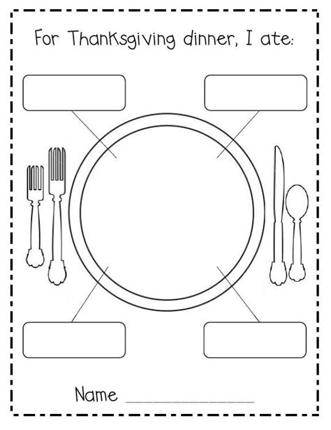 turkey dinner printable thanksgiving dinner ww uses something similar to plan