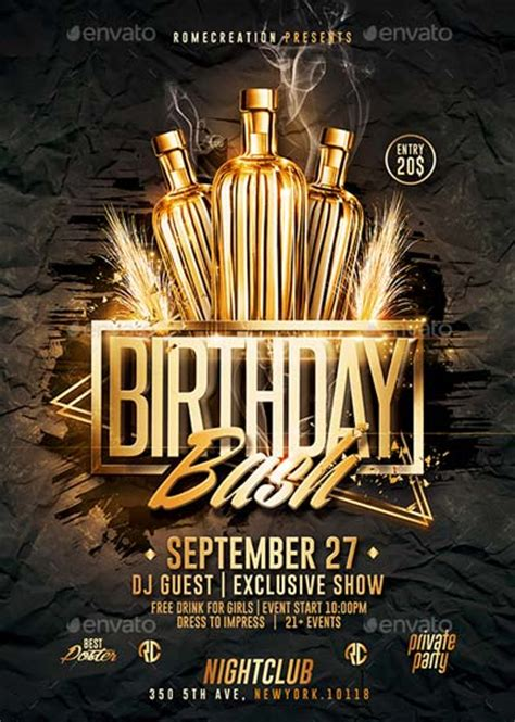 Download Top 50 Birthday Flyer Templates Collection On Flyersonar Bash Flyer Template