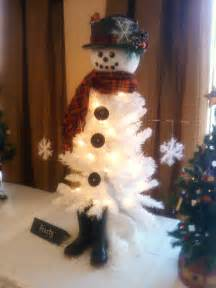 craft of the season frosty the snowman christmas tree
