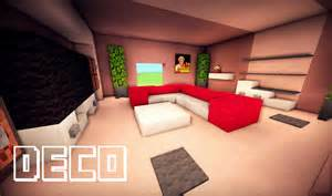 minecraft creer un salon moderne