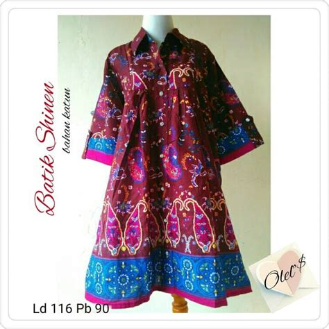 Tunik Batik Blouse Atasan Baju Wanita Umma Tunic gambar model batik kerja wanita muslimah baju gambar tunik