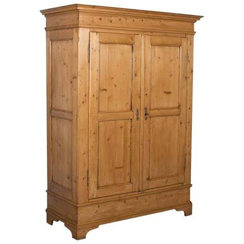 Antique Pine Armoire by Antique Pine Two Door Armoire From Denmark Circa 1880 At
