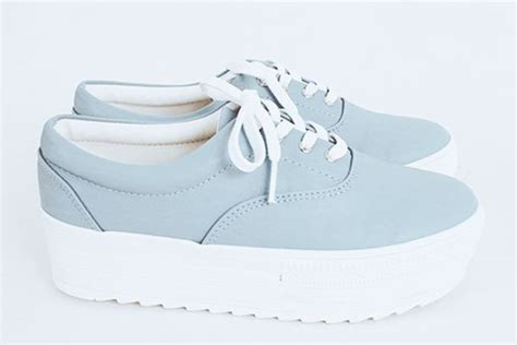 Sandal Wanita Fav Kawai White Fav Shoes shoes pale shoes platform sneakers platform shoes kawaii shoes light blue sneakers white
