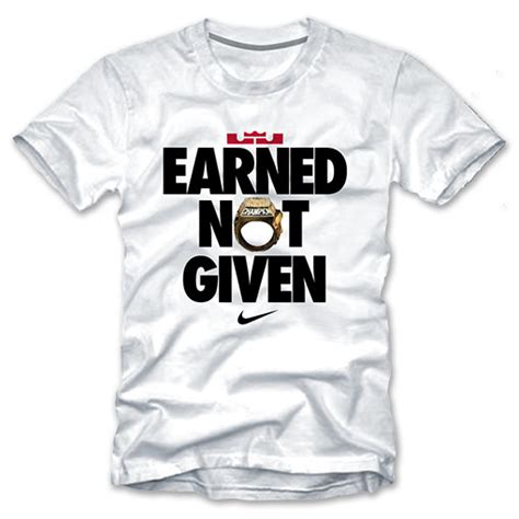 Kaos Tshirt Earned Not Given Nike reserve your nike earned not given t shirt now weartesters