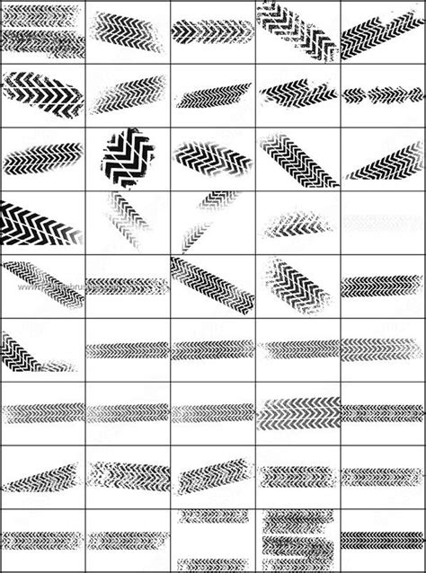 Tire Pattern Brush | free tire tracks brushes photoshop 123freebrushes