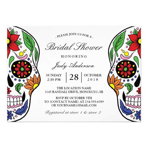 Personalized Skull Invitations Custominvitations4u Com Skull Invitation Templates