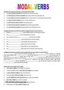 modal verbs should worksheets modal verbs could should
