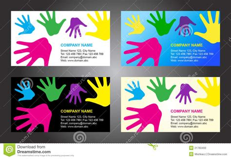 children s s card template business card template design stock vector