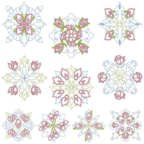 design patterns in embroidery quiltblocks 1 machine embroidery patterns 10 designs 2