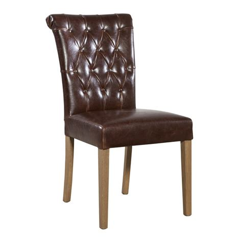 Leather Tufted Dining Chair Furniture Classics 73915 Fc Dining Tufted Leather Dining Chair Discount Furniture At Hickory