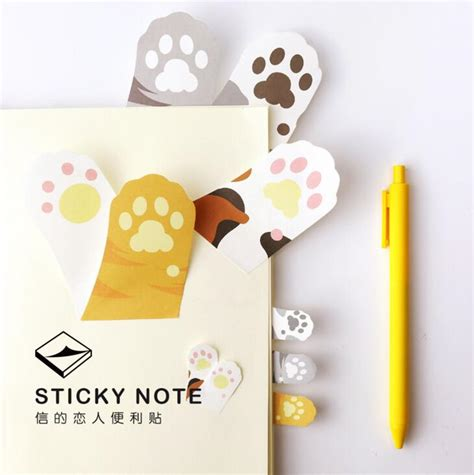 aliexpress buy meow cat paw memo notepad notebook memo pad self adhesive sticky notes