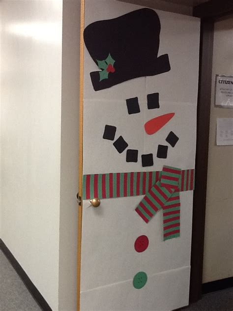 Snowman Door by Snowman Door Door Decor