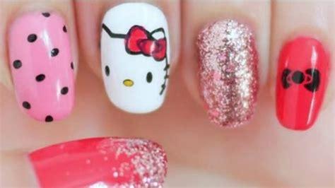 tutorial nail art dengan air hello kitty mini di kuku buat anda yang ingin til girly