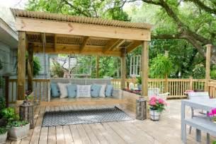 Diy outdoor swing bed