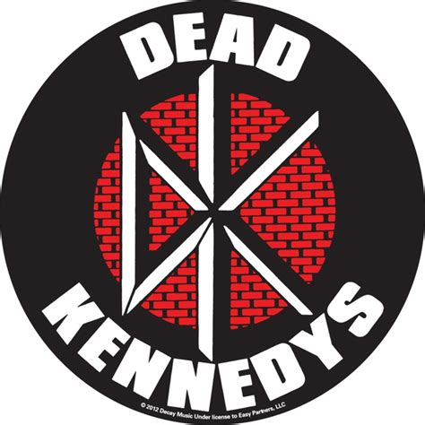 Red And Black Home Decor by Dead Kennedys Brick Logo Sticker