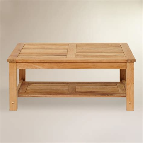 Teak Outdoor Coffee Table Sawarna Teak Outdoor Coffee Table World Market