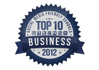 Mba Concentrations Explained by Top 10 Most Social Media Friendly Rankings Of Mba
