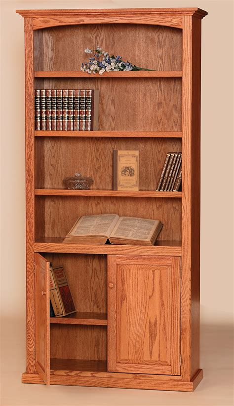 wood bookcase  doors buy solid wood bookcase