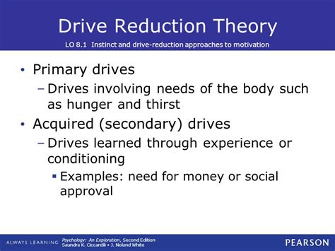 drive reduction theory exle 8 motivation and emotion ppt video online download