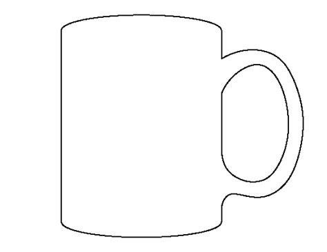 Mug Pattern Use The Printable Outline For Crafts Creating Stencils Scrapbooking And More Free Printable Coffee Mug Template