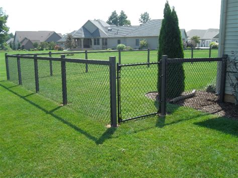 chain link fence post residential vinyl chain link gallery mikes fencing inc mike s fencing