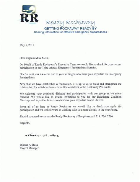 Thank You Letter For Recent Testimonials About Command Consultants Command Consultants