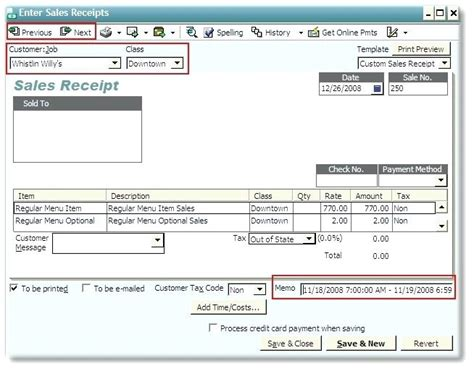 quickbooks edit sales receipt template sales receipt best receipt template ideas on