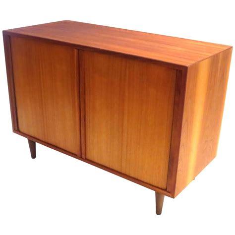 small credenza modern tambour door small record media cabinet