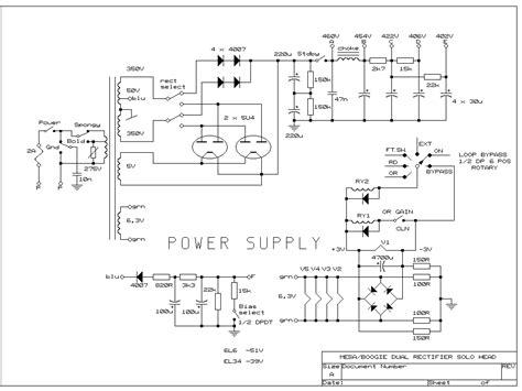 rectifier circuit in pdf mesa dual rectifier 3 ch wth lf oscillation from 5u4gb s ss mode