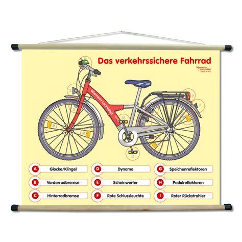 Beschriftung Verkehrssicheres Fahrrad by Lehrtafel Zur Vorbereitung Auf Die Radfahrpr 252 Fung