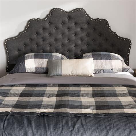 Grey King Size Headboard Baxton Studio Hilda Modern And Contemporary Grey Fabric King Size Headboard