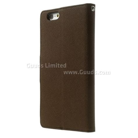Iphone 6 Plus Mercury Fancy Flip Casing Cover Hitam Cokelat mercury fancy diary leather flip cover for iphone 6 plus 5 5 inch coffee leather guuds