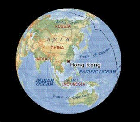 world map hong kong