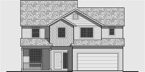 house plan front view 3 bedroom house plans 40 wide house plans narrow house plans