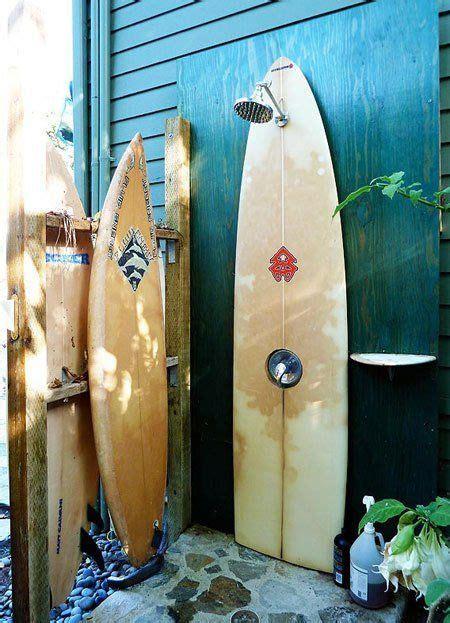 surfboard outdoor shower an outdoor shower made of surfboards