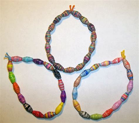 paper bead bracelets things to make and do make a paper bead bracelet